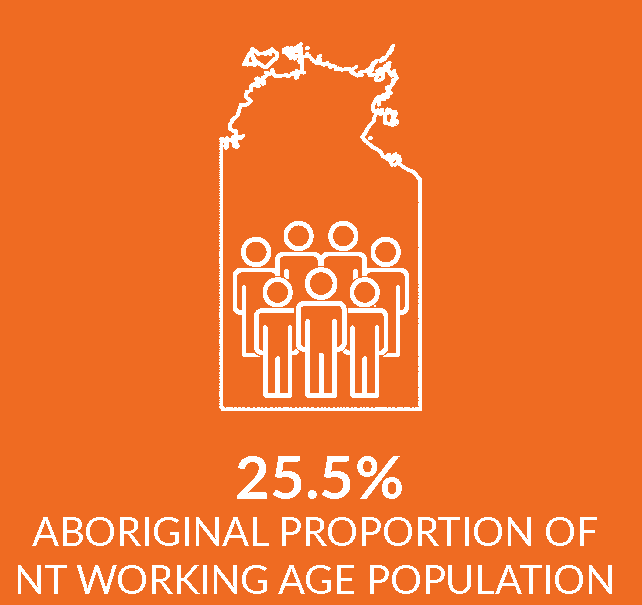 Infographic showing proportion of working age population